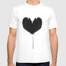 wings to my heart White MEDIUM Mens Fitted Tee