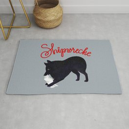 Shipwrecke (Gray and Red) Rug