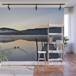 Love Ducks at Dawn on Lake George Wall Mural
