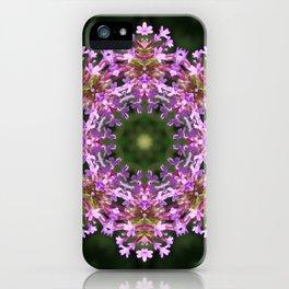 Constellation of Verbena flowers mandala Verbena bonariensis 1829 k2 iPhone Case
