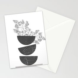 Vibration - Minimalism Mid-Century Modern Forms Stationery Cards