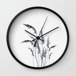 Wild grasses Wall Clock
