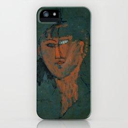 Amadeo Modigliani / Tête rouge - 1915 iPhone Case