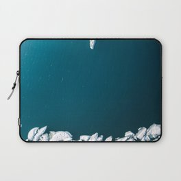 Minimalist Ice Bergs in the blue Ocean - Aerial Photography Laptop Sleeve