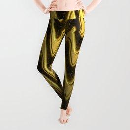 Golden Chevron in motion, abstract artwork. Leggings