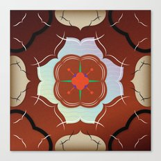 Vintage Tiles: Red Canvas Print