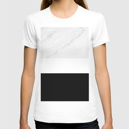 Marble Black White T-shirt