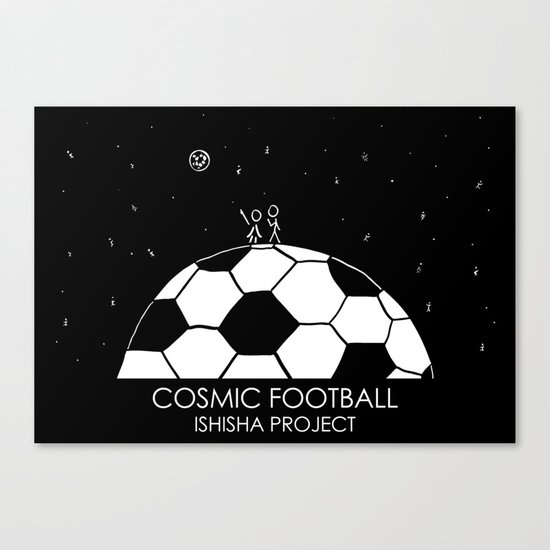 COSMIC FOOTBALL by ISHISHA PROJECT Canvas Print