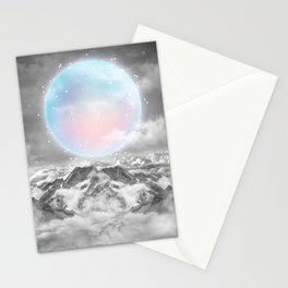 Places Neither Here Nor There (Guardian Moon) Stationery Cards