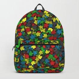 Varicoloured meeples Backpack