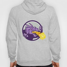 Dragon Head Fire Circle Retro Hoody