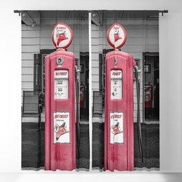Vintage Route 66 Antique Fire Chief Red Gas Pump Blackout Curtain