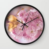 japanese Wall Clocks featuring Japanese cherryblossoms in LOVE by UtArt