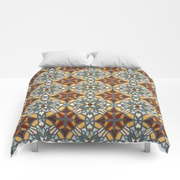 Abstract geometric retro seamless pattern Comforters