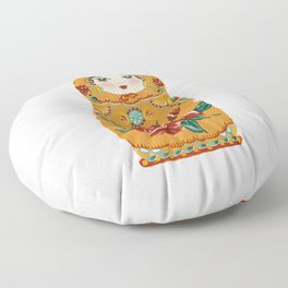 Intuition: Gold Matryoshka Doll Floor Pillow
