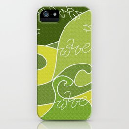 Waves V green colors V Duffle Bags iPhone Case
