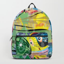 Hippy Fish in Rainbow Glow Backpack
