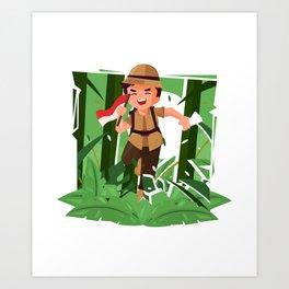 Running Around Exploring The Jungle Art Print