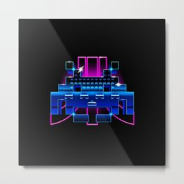 Space-Retro Metal Print