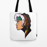 xmen Tote Bags featuring x5 by jason st paul