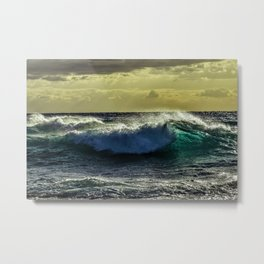 Wave Series Photograph No. 9 - Sunset on the Water Metal Print