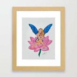 Flirty Fairy Rita white Framed Art Print