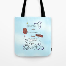 Poppies Are Happy Flowers Tote Bag