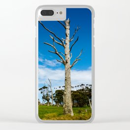 Lifeless Gum trees Clear iPhone Case