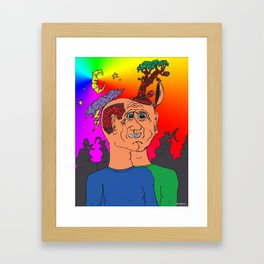 Twin as one Framed Art Print