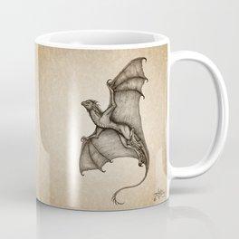 """Hurricane Wyvern"" by Amber Marine, Ink & Graphite Dragon Art, (Copyright 2016) Coffee Mug"