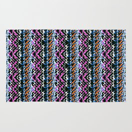 Painted chevrons Rug