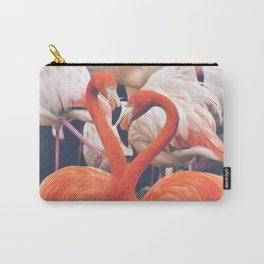 Pink Flock Carry-All Pouch