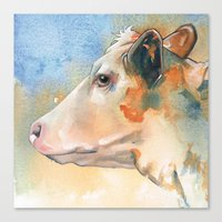 cow Canvas Prints featuring Cow by Annabel Chance