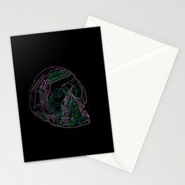 Electric Skull Stationery Cards