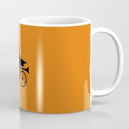 Witch on a Bicycle Coffee Mug