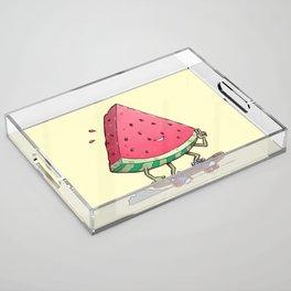 Watermelon Slice Skater Acrylic Tray