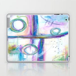 Just the Three of Us, Abstract Art Painting Laptop & iPad Skin