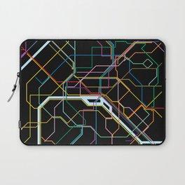 Paris Subway Map Laptop Sleeve