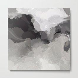 Modern Pattern Black White Design Metal Print