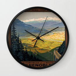 Vintage poster - Grenoble Wall Clock