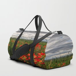 Brighten the Day - Indian Paintbrush Wildflowers in Eastern Oklahoma Duffle Bag