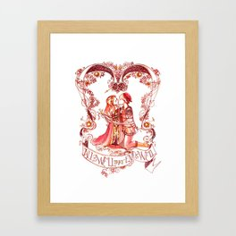All's Well That Ends Well - Kiss - Shakespeare Illustration Framed Art Print