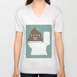 Poop Monster Unisex V-Neck