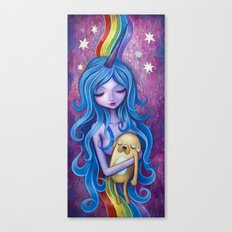 Lady Rainicorns Loving Arms Canvas Print