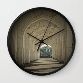 Arched colonnade Wall Clock