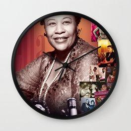 Ella Fitzgerald Collage Portrait I Wall Clock