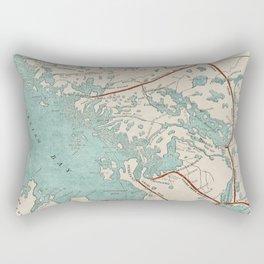 Vintage Map of Georgian Bay Rectangular Pillow