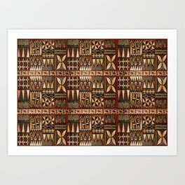 Hawaiian Shark Tooth Tapa Art Print