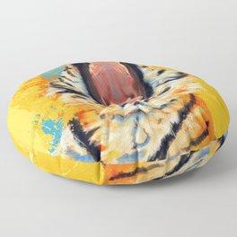 Wild Yawn - Tiger portrait Floor Pillow