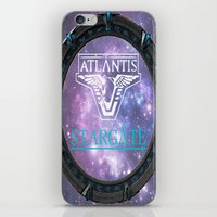 stargate iPhone & iPod Skins featuring Pegasus gate by Samy